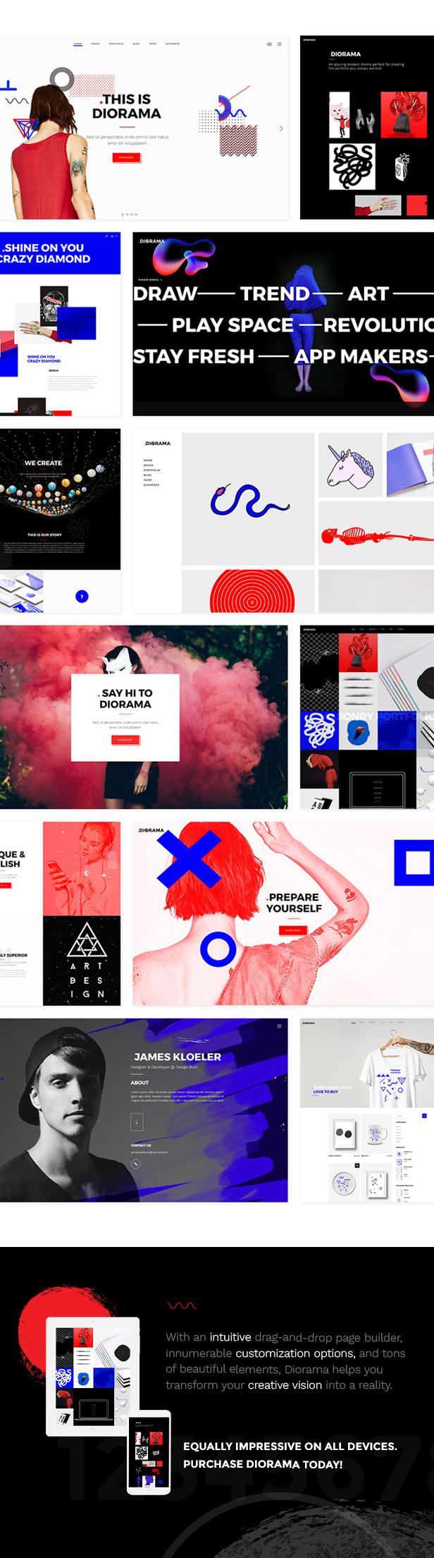 Diorama - A Bold Portfolio Theme for Agencies and Freelancers